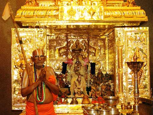 The Golden mandapam of Lord Malolan.