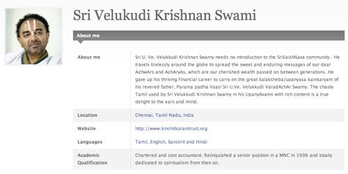 Sri Velukudi Swami on Saranagathi.org